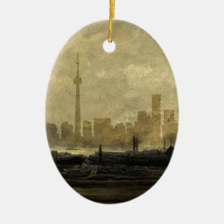 Horizon 41 van Toronto Keramisch Ovaal Ornament