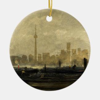Horizon 41 van Toronto Rond Keramisch Ornament