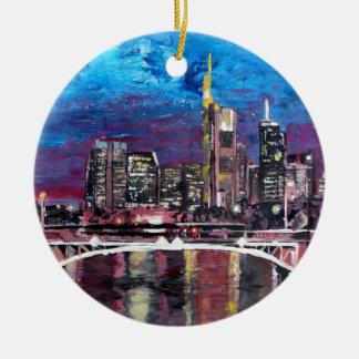 Horizon Frankfurt HoofdDuitsland - Mainhattan Rond Keramisch Ornament