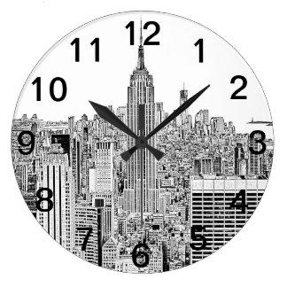 Horizon NYC - het Geëtste Empire State Building, Grote Klok