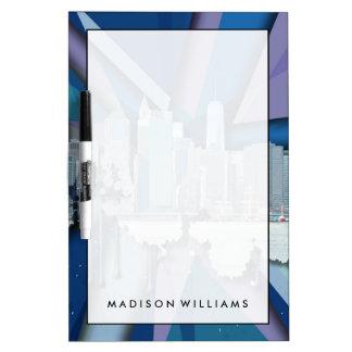 Horizon | van de Stad van New York Blauwe 3D Whiteboards