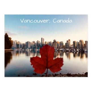 Horizon van het Blad van de Esdoorn van Vancouver Briefkaart