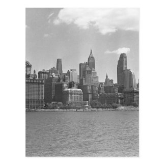 Horizon van Manhattan New York de V.S.B&W Briefkaart