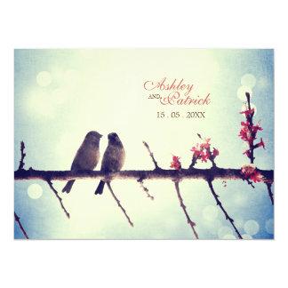 Horizontaal de vogelsverhaal van de liefde kaart