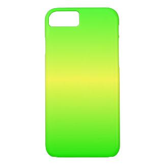 Horizontale Elektrische Gele en Elektrische Groen iPhone 7 Hoesje