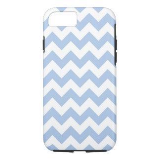 Horizontale Lichtblauwe en Transparante Zigzag iPhone 7 Hoesje