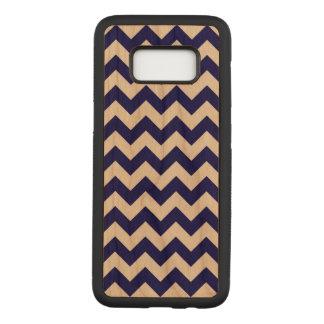 Horizontale Marine en Transparante Zigzag Carved Samsung Galaxy S8 Hoesje