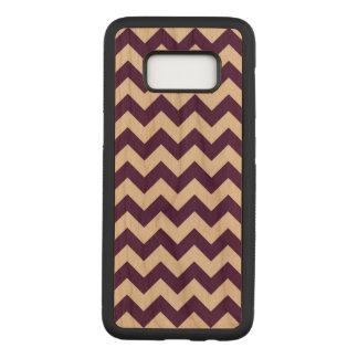 Horizontale Paarse en Transparante Zigzag Carved Samsung Galaxy S8 Hoesje