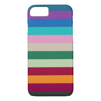 Horizontale Strepen in de Kleuren van de Herfst iPhone 8/7 Hoesje