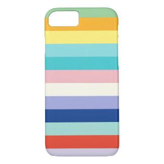 Horizontale Strepen in de Kleuren van de Lente iPhone 8/7 Hoesje
