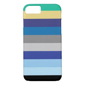 Horizontale Strepen in de Kleuren van de Winter iPhone 8/7 Hoesje