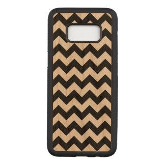Horizontale Zwarte en Transparante Zigzag Carved Samsung Galaxy S8 Hoesje