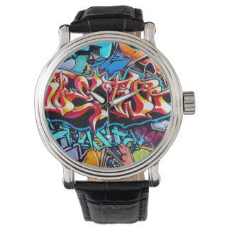 Horloge 2 van Graffiti