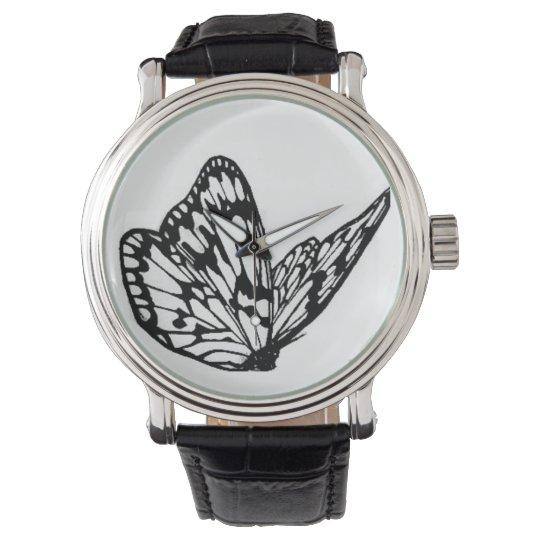 horloge met vlinder