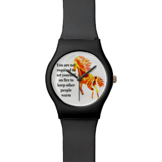 Horloge op Brand