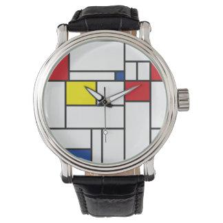 Horloge van de Kunst van Piet Mondrian het