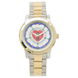 Horloge van het Gebrandschilderd glas van de