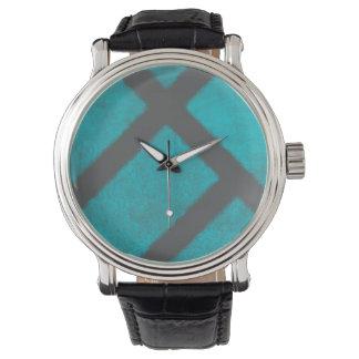 Horloge van het Patroon van Aqua van Grunge het