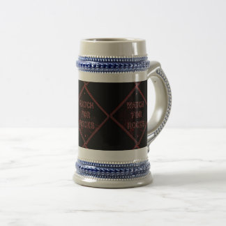 horloge voor rotsenstenen bierkroes bierpul