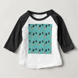 Horseback het berijden in een moderne stijl baby t shirts