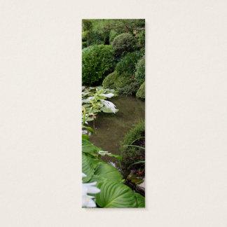 Hosta in een Tuin Zen Mini Visitekaartjes