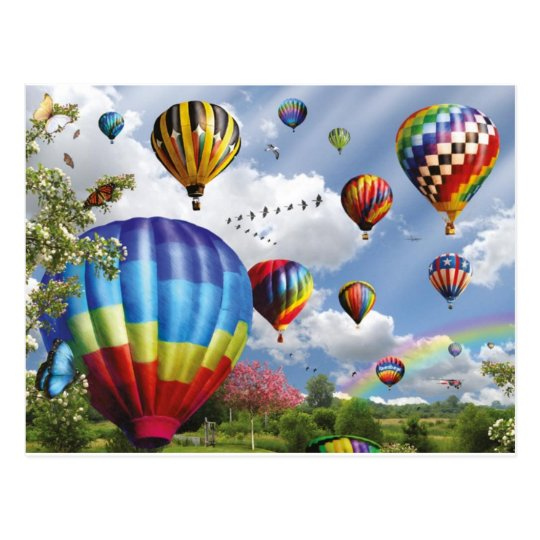 Hot Air Balloons Briefkaart