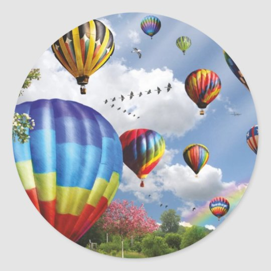 Hot Air Balloons Ronde Sticker