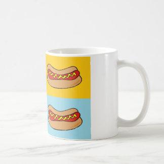 hotdogs betegeld ontwerp koffiemok