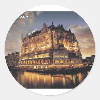Hotel-Europa-Amsterdam-Nederland [kan.k] Ronde Stickers