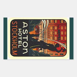 Hotel Stockholm Zweden van de Reis van de sticker