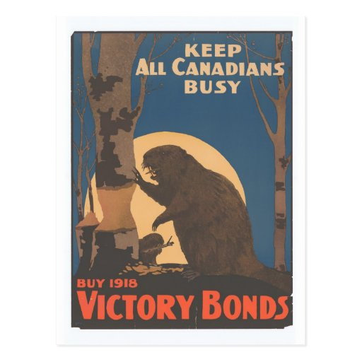 Houd Alle Canadezen Bezig Wens Kaart