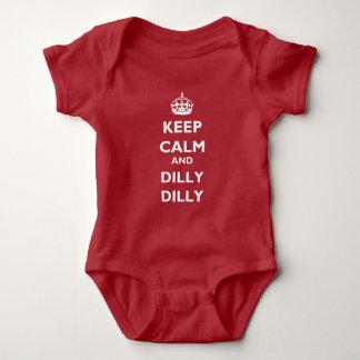 Houd Bodysuit van Jersey van het Kalme en Baby van