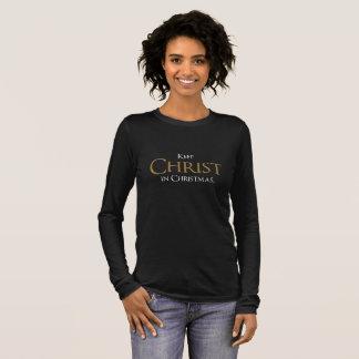 Houd Christus in de Lange T-shirt van het Sleeve