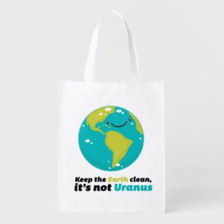 Houd de Aarde Schoon Herbruikbare Boodschappentas