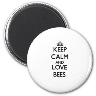 Houd de kalme en Bijen van de Liefde Magneet