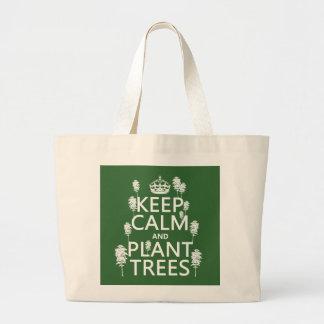 Houd de Kalme en Bomen van het Plant (alle Grote Draagtas