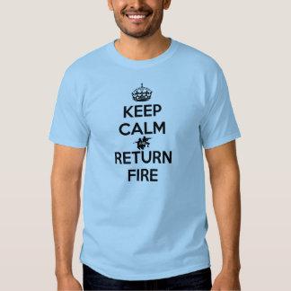 Houd de Kalme en Brand van de Terugkeer Tshirts