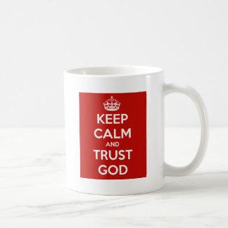 Houd de Kalme en God van het Vertrouwen Koffiemok