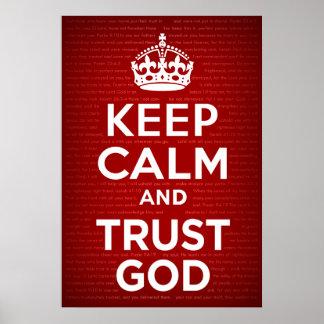 Houd de Kalme en God van het Vertrouwen Poster