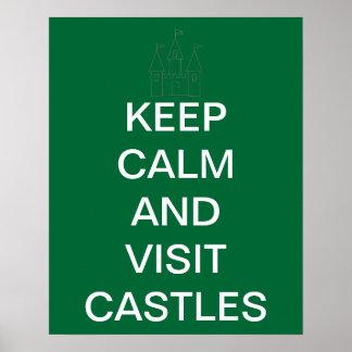 Houd de Kalme en Kastelen van het Bezoek Poster