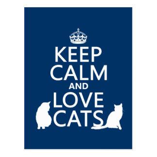 Houd de Kalme en Katten van de Liefde Briefkaart