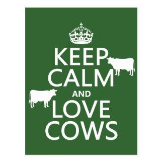 Houd de Kalme en Koeien van de Liefde (alle Briefkaart
