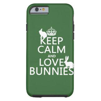Houd de Kalme en Konijntjes van de Liefde - alle k Tough iPhone 6 Hoesje