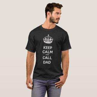 Houd de Kalme en Papa van de Vraag T Shirt