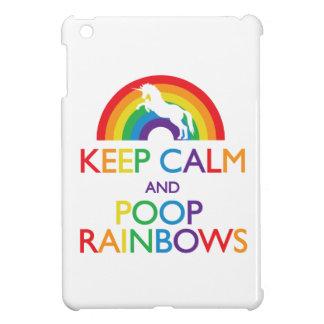 Houd de Kalme en Regenbogen van het Achterschip iP iPad Mini Hoesjes