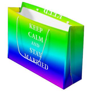 Houd de kalme en verblijf gehuwde Zak van de Gift Groot Cadeauzakje