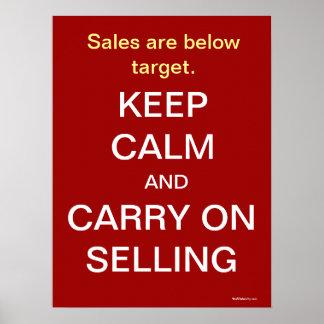 Houd de Kalme het Verkopen Motivatie Slogan van de Poster
