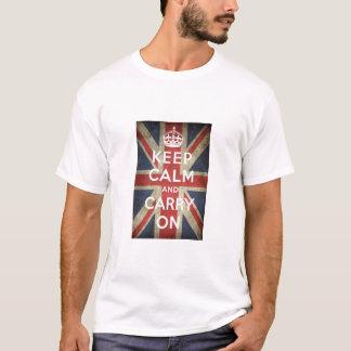 Houd de Kalme t-shirt van Groot-Brittannië