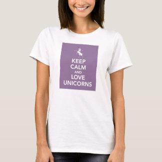 Houd de paarse t-shirt van de Kalme en Eenhoorns