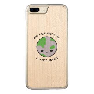 Houd de planeetbrandkast carved iPhone 7 plus hoesje